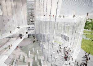interior design proposal sanaa taichung city cultural center designboom