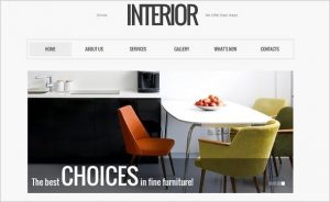 interior design templates interior design website template