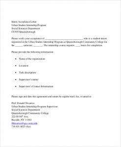 intern offer letter internship program acceptance letter