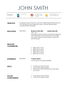 internship resume template internship resume example
