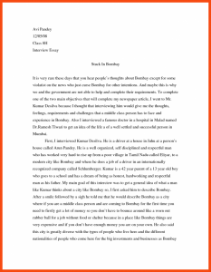 interview essay example interview paper example top example of an interview essay a narrative papers sample x
