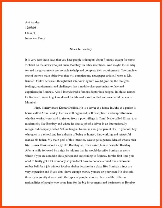 Interview Essay Example  Template Business Essay On Health Care Reform How To Write A Good Proposal Essay Interview Essay Example  Template Business Yellow Wallpaper Essay also Biographical Essay Example