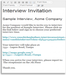 interview request email custominvite