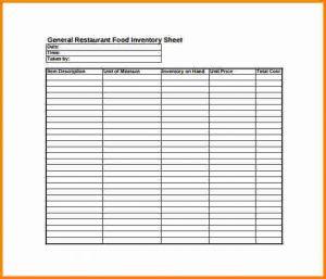 inventory sheet pdf inventory sheet pdf general restaurant food inventory sheet pdf free download