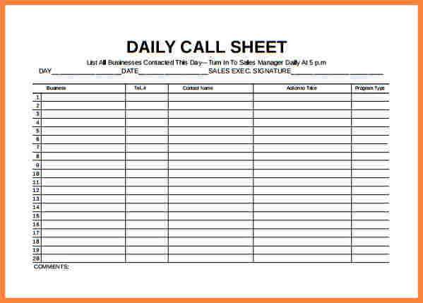 Inventory spreadsheet template template business for Sales call cycle template
