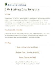 investment agreement template crm business case template