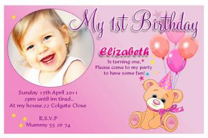 invitation cards template st birthday invitation wording