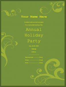 invitation templates word party invitation template