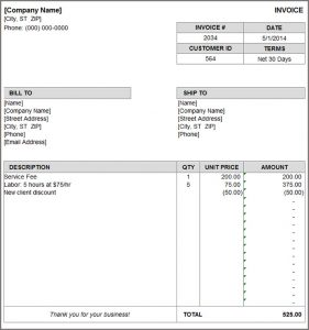 invoice template download billing invoice
