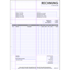 invoice template download windowinvoice rechnungstemplate einseitige rechnung