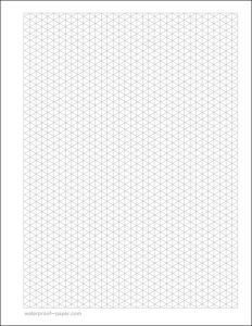 isometric graph paper pdf isometric graph paper template