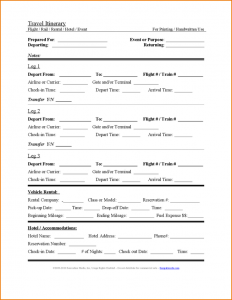 itinerary template word itinerary template word travel itinerary template