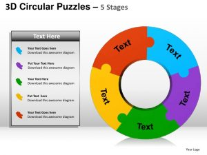 jigsaw puzzle templates d circular puzzles stages powerpoint presentation templates