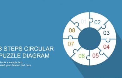 jigsaw puzzle templates steps circular puzzle diagram