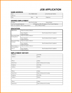 job application form template job application form template word