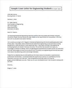 job application letter engineer student job application letter
