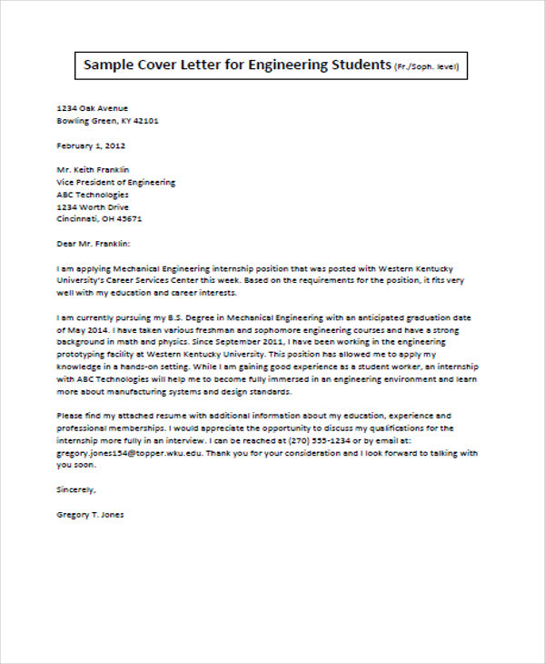 Job Application Letter  Template Business