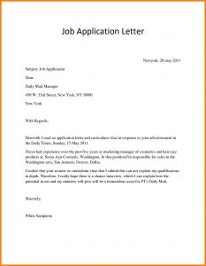 job application letter how to write a job application letter pdf