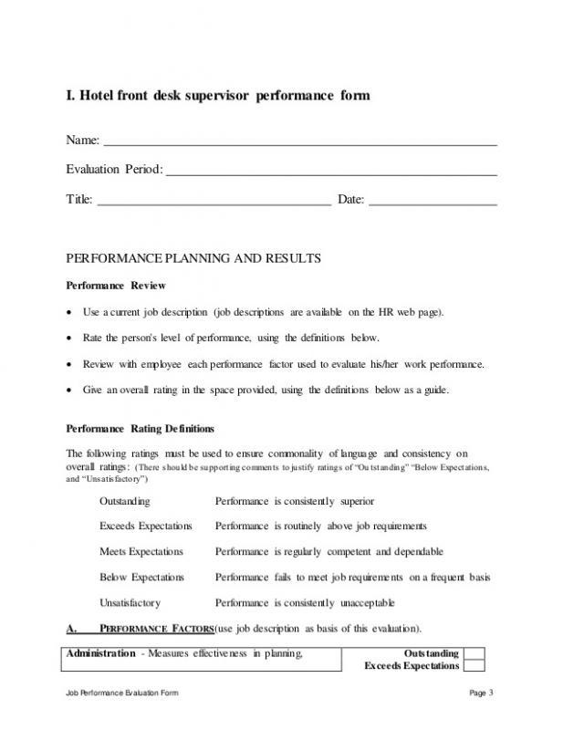 job description format
