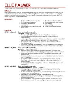 job description templates hospitality front desk resume