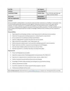 job description templates job description template