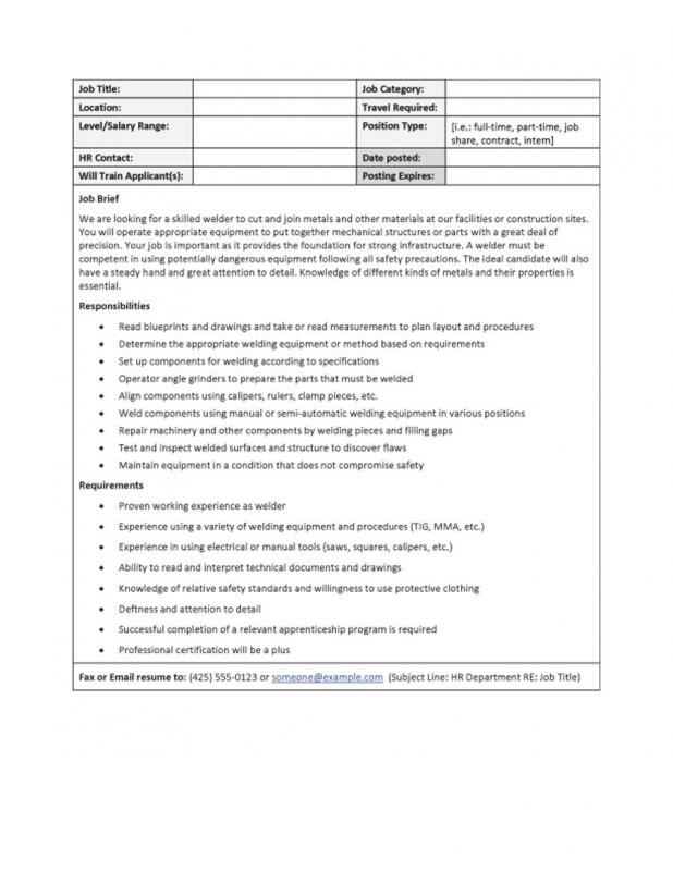 job description templates
