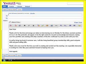 job interview follow up email sample sending a thank you email after an interview