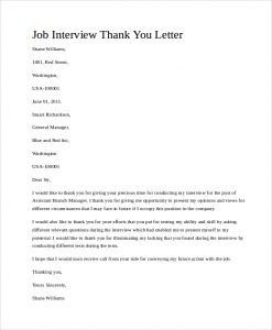 thank you letter job interview thank you letter template business 10323 | job interview thank you letter job interview thank you letter1 247x300