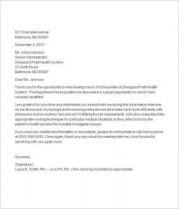 job interview thank you letter thank you letter after nursing job interview