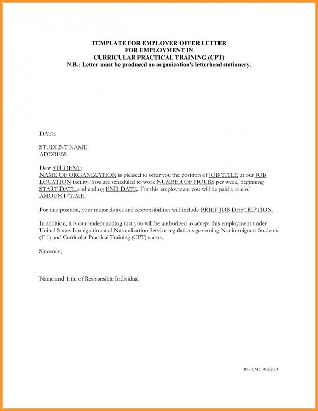 Job Letter Sample  Template Business