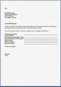 Job Offer Acceptance Letter | Template Business