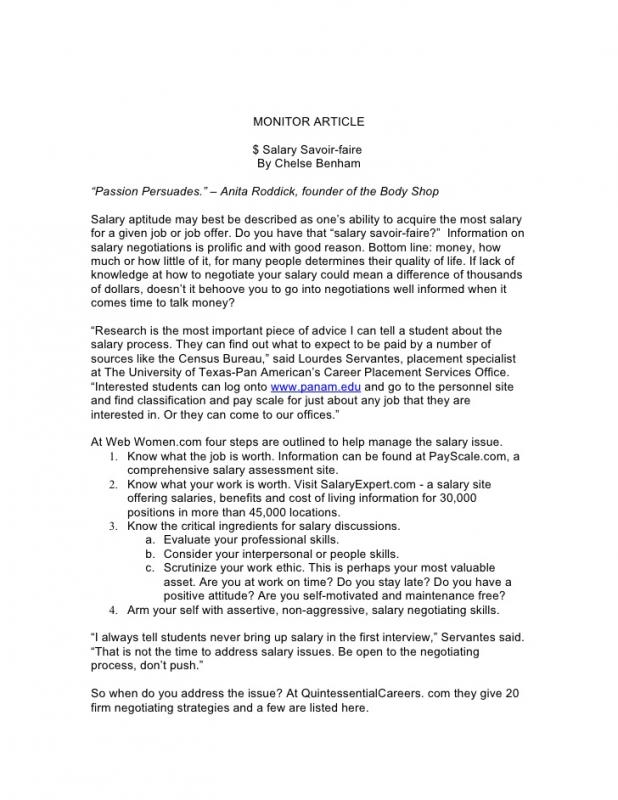 salary negotiation email template - job offer letters template business
