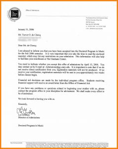 job offer letters university admission offer letter sample