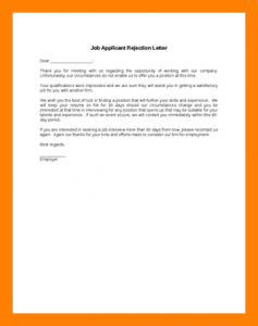 job offer rejection letter thank you for applying letter job applicant rejection letter resizecssl