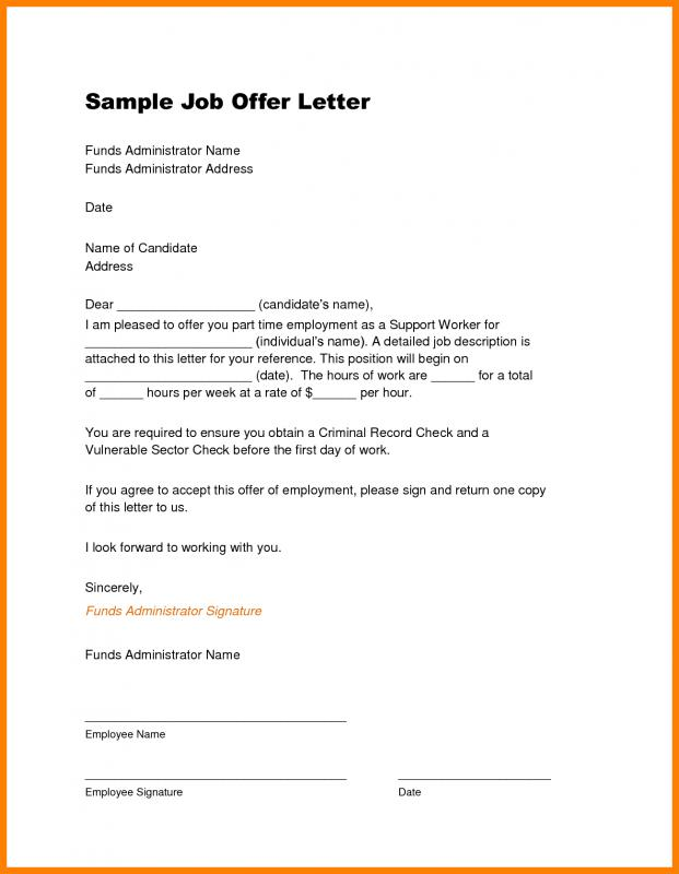 job offer template