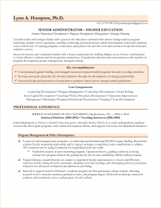 job proposal example academic administrator resume