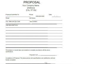 job proposal template job proposal