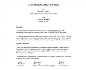 job proposal template marketing job proposal template