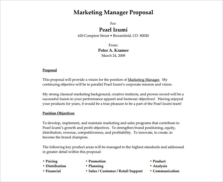 Job Proposal Template  Template Business