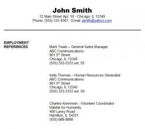 job reference format referencessamples