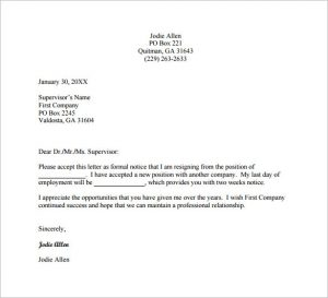 job resignation letter free job change resignation letter pdf download