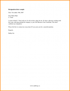 job resignation letter job resignation letter sample