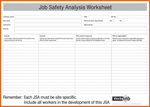 job safety analysis examples job safety analysis form job safety analysis jsa form for pdf