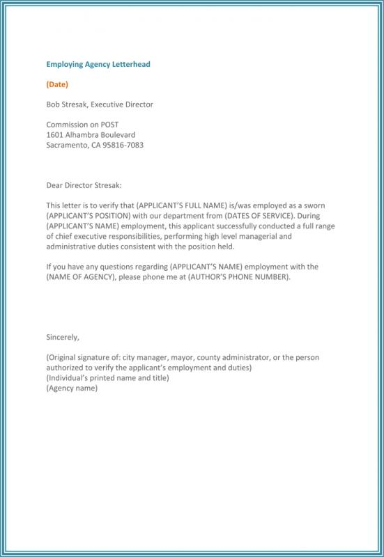 Job Verification Letter  Template Business