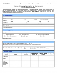 jobs application sample application form for a job sample