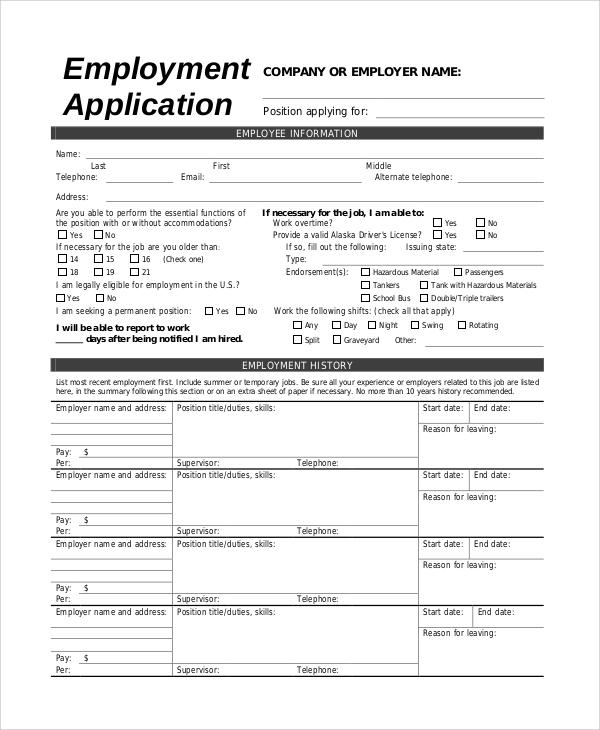 Jobs application sample template business jobs application sample altavistaventures Choice Image