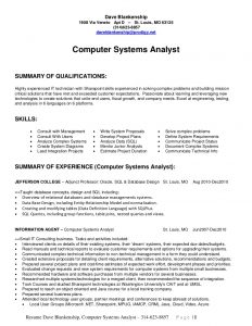 junior business analyst resume dave blankenship computer systems analyst long