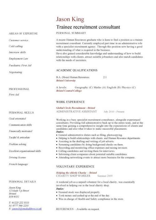 junior business analyst resume