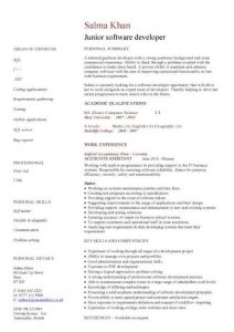 junior web developer resume pic junior software developer