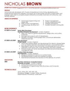 junior web developer resume web developer thumbnail resume